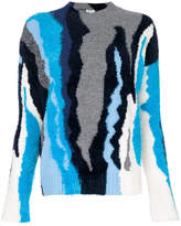 Kenzo tonal colour block knit sweater
