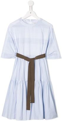 BRUNELLO CUCINELLI KIDS Striped Casual Dress
