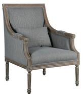 Ophelia Solihull Armchair & Co. Upholstery Color: Gray, Leg Color: Medium Brown