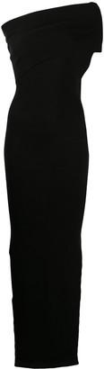 Rick Owens Split-Hem One-Shoulder Maxi Dress