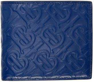 Burberry Blue Monogram International Wallet