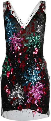 Faith Connexion Rainbow Sequin Embellishment Mini Dress