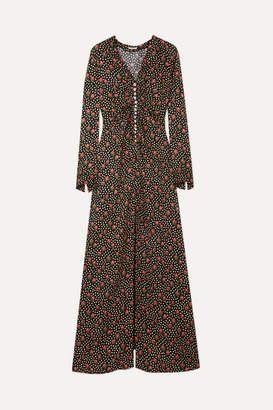 Miu Miu Embellished Silk-jacquard Maxi Dress - Black