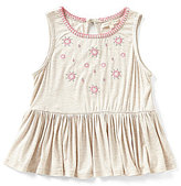 Copper Key Big Girls 7-16 Embroidered Tank Top