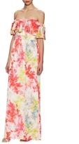 Jay Godfrey Watsa Floral Print Maxi Dress