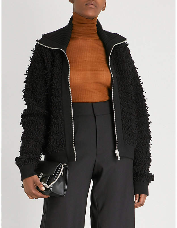 Givenchy Textured wool-blend jacket