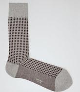 Lynx Contrast Pattern Socks Mouse Grey
