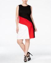 MICHAEL Michael Kors Size Colorblocked Shift Dress