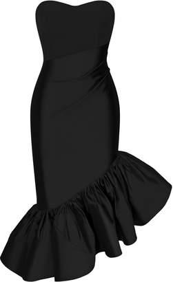 Rasario Ruffled Silk-Crepe Dress