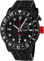 Redline Red Line Men's Carbon Brake Dual Time Silicone Watch RL-10114