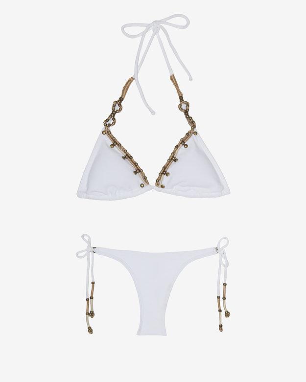 Vix Swimwear Vix Embroidery Detail Triangle Bikini