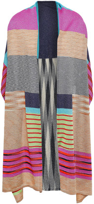 Missoni Cape-effect Printed Crochet-knit Scarf
