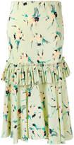 Marni gathered floral skirt