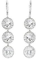 Andrea Fohrman Triple Rock Crystal Drop Earrings with Diamonds - White Gold