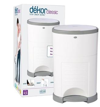 Dekor Diaper Disposal Bin Classic White