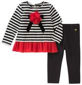 Kate Spade Girls' Bow Appliqué Top & Leggings Set - Baby
