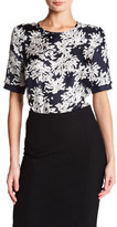 HUGO BOSS Inida Printed Silk Blouse