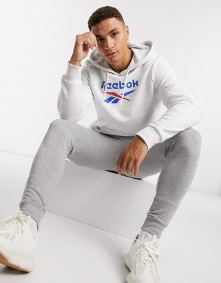 Reebok Classics hoodie with vector logo in white