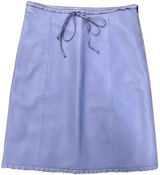 Miu Miu Purple Leather Skirt for Women Vintage