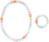 Accessorize 2x Ombre Beaded Heart Set