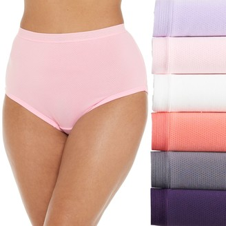 Fruit of the Loom Plus Size Fit For Me 6-Pack Brief Panty 6DKBMRP