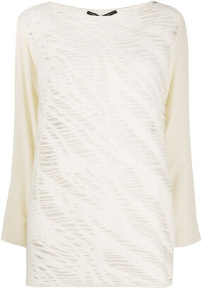 Gianfranco Ferré Pre-Owned Printed Boat Neck Top
