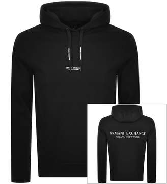 Armani Exchange Logo Hoodie Black