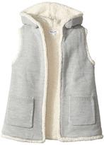 Splendid Littles Hooded Sherpa Vest Girl's Vest
