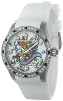 Christian Audigier Unisex INT-302 Intensity Graceful Bird Stainless Steel Watch