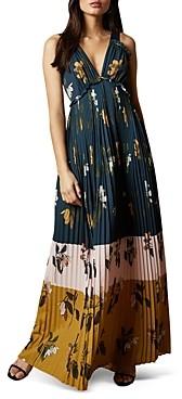 Ted Baker Kaylare Savanna Floral Print Pleated Maxi Dress