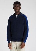 Thumbnail for your product : Paul Smith Men's Dark Navy Ribbed Funnel Neck Sweater