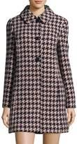 Kate Spade Women's Wool Houndstooth Overcoat