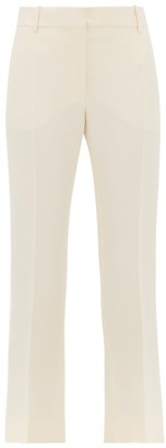 Valentino Tailored Slim-fit Wool-blend Trousers - Womens - Ivory