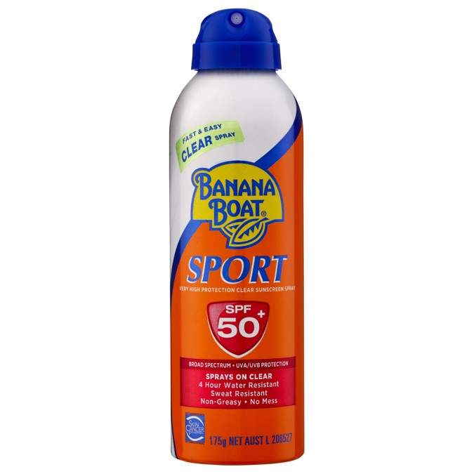 Banana Boat Sport SPF 50+ Clear Spray Sunscreen 175 g