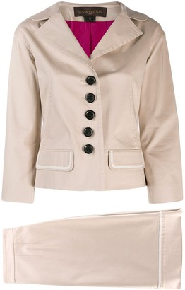 Louis Vuitton Pre-Owned 2000's fitted skirt suit