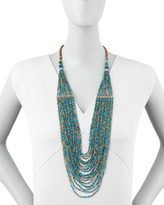 Nakamol Tiered Multi-Strand Bead Necklace, Turquoise