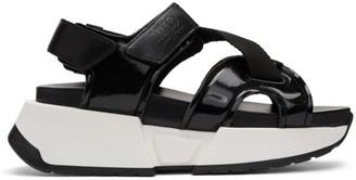 MM6 MAISON MARGIELA Black Multi Strap Sandals
