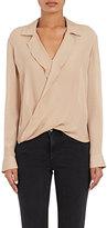 L'Agence Women's Rita Silk Wrap Blouse-TAN