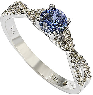 LeVian Suzy Petite Sapphire Silver 0.72 Ct. Tw. Sapphire Ring
