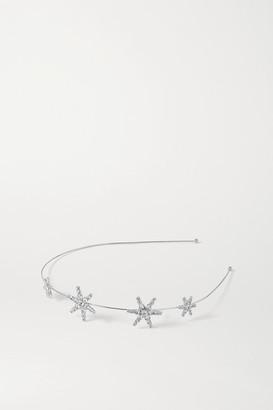 Jennifer Behr Hila Rhodium-plated Swarovski Crystal Headband - Silver
