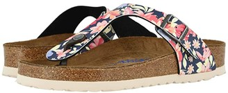 Birkenstock Gizeh Soft Footbed (Supernatural Flower Navy Birko-Flortm) Women's Sandals