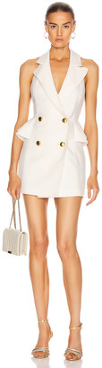 Marianna SENCHINA Double Breasted Mini Dress in Milky   FWRD