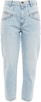 Thumbnail for your product : Current/Elliott The Helix Cropped High-rise Straight-leg Jeans