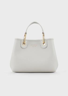 Emporio Armani Myea Bag Small Shopper Bag With Deer Print