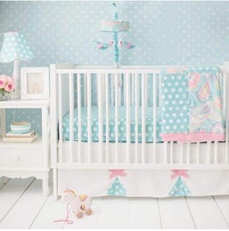 My Baby Sam Pixie Baby in Aqua 3pc Set (sheet, skirt, blanket) Bedding