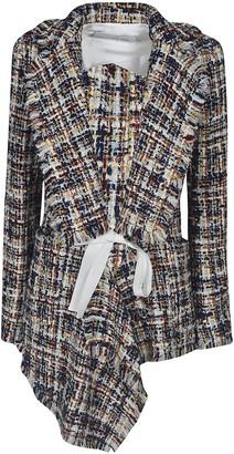 Lanvin Tie-waist Tartan Jacket