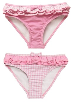 Beatrix Potter Toddler Girls Gingham Print Frilled Nappy Swimsuit Bottom - Set of 2