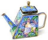 Kelvin Chen Enameled Miniature Tea Pot - Wine & Grape