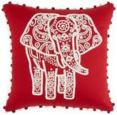 Sky Indigo Patchwork Elephant Decorative Pillow, 16 x 16 - 100% Exclusive