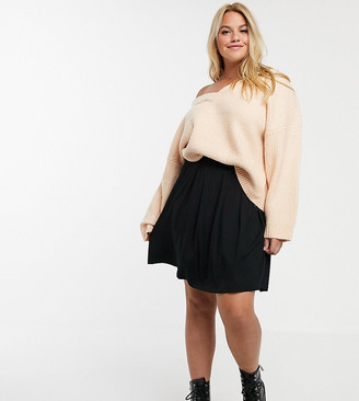 ASOS DESIGN Curve mini skirt with box pleats